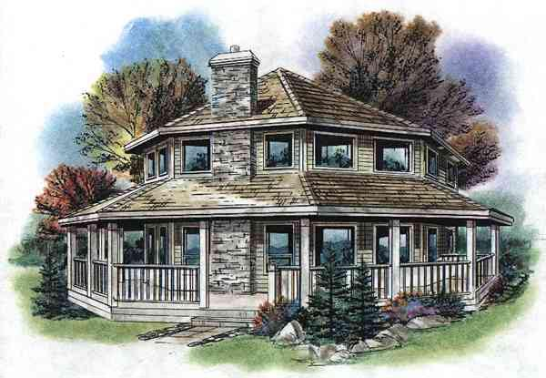 Contemporary House Plan 58513 with 3 Beds, 2 Baths Elevation