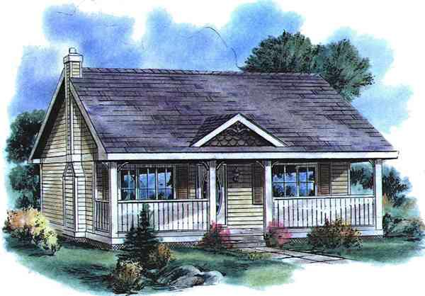Country House Plan 58515 Elevation