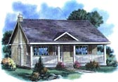 Plan Number 58515 - 614 Square Feet