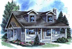 Cape Cod House Plan 58516 Elevation