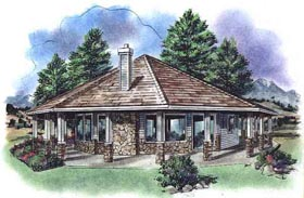 Contemporary House Plan 58519 Elevation