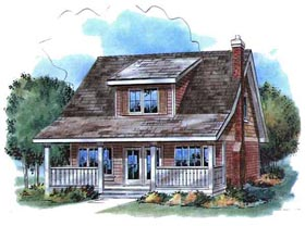 Country House Plan 58521 with 3 Beds, 2 Baths Elevation