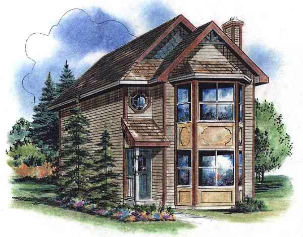 House Plan 58522 Elevation