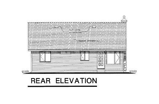 Country House Plan 58524 Rear Elevation