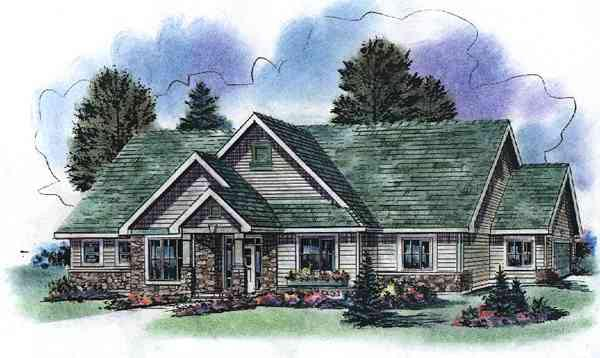 Country House Plan 58525 Elevation