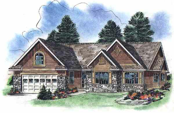 Tudor House Plan 58526 Elevation
