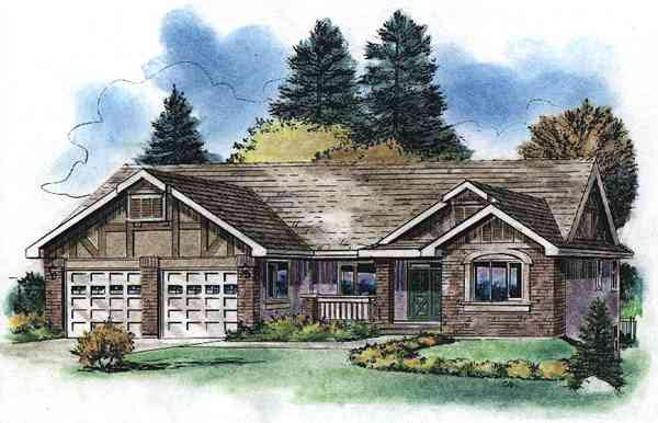 Tudor House Plan 58529 Elevation