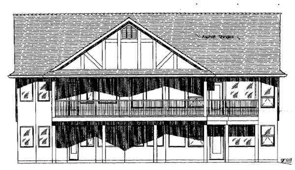 Tudor House Plan 58529 Rear Elevation