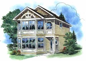 House Plan 58530 Elevation