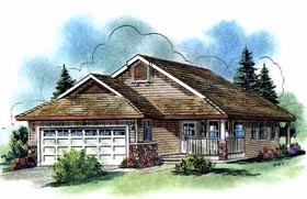 Ranch House Plan 58531 Elevation