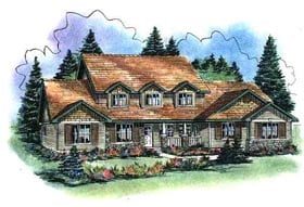 Country House Plan 58532 Elevation