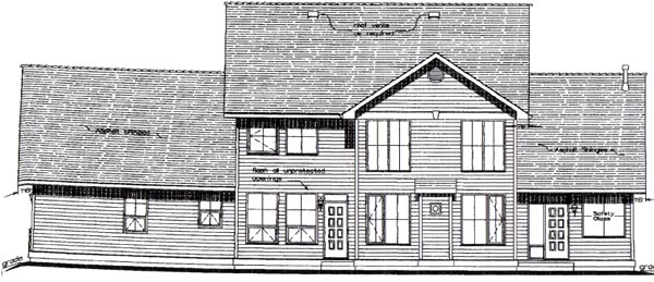 Country House Plan 58532 Rear Elevation