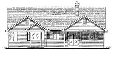 Craftsman House Plan 58533 Rear Elevation