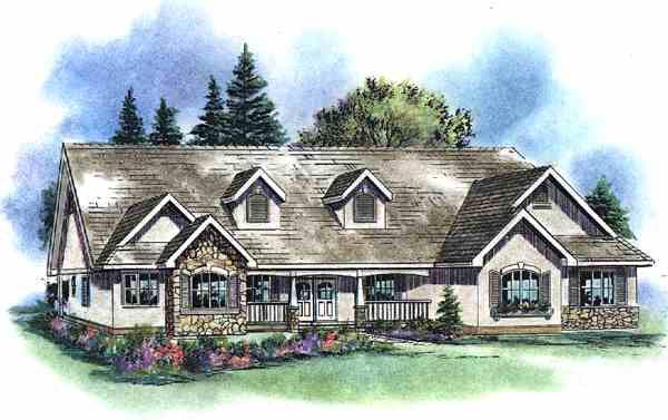 Ranch House Plan 58535 Elevation