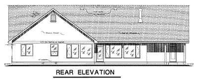 Ranch House Plan 58535 Rear Elevation