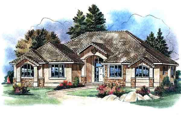 Mediterranean House Plan 58536 Elevation