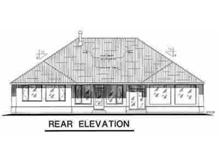 Mediterranean House Plan 58536 Rear Elevation