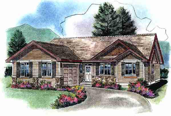 Ranch House Plan 58538 Elevation