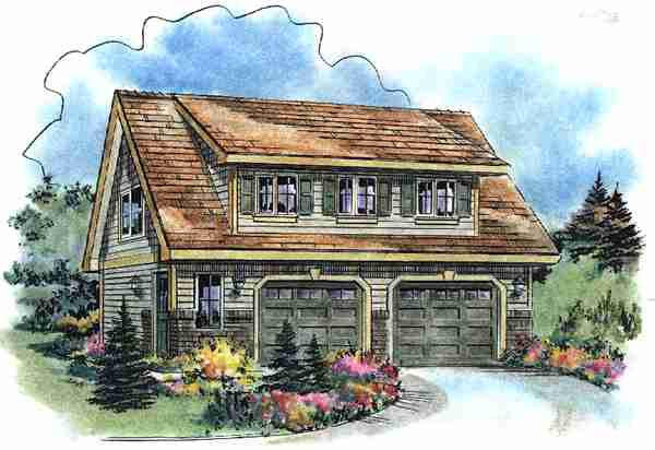 Cape Cod Contemporary Craftsman Elevation of Plan 58541