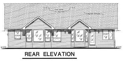 Tudor House Plan 58542 Rear Elevation