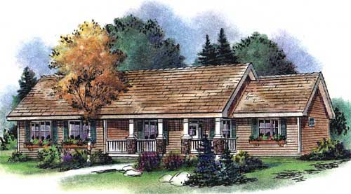 Ranch House Plan 58545 Elevation