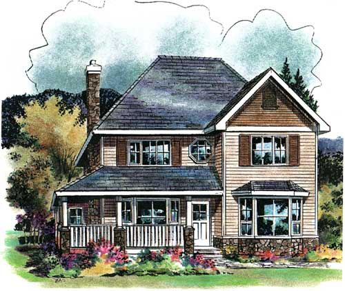 Colonial House Plan 58546 Elevation