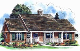 House Plan 58548 | Farmhouse Style Plan with 1894 Sq Ft, 3 Bedrooms, 2 Bathrooms Elevation