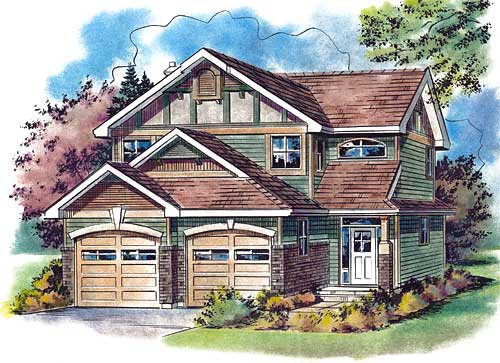 Tudor House Plan 58551 Elevation