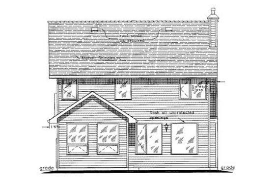 Tudor House Plan 58551 Rear Elevation