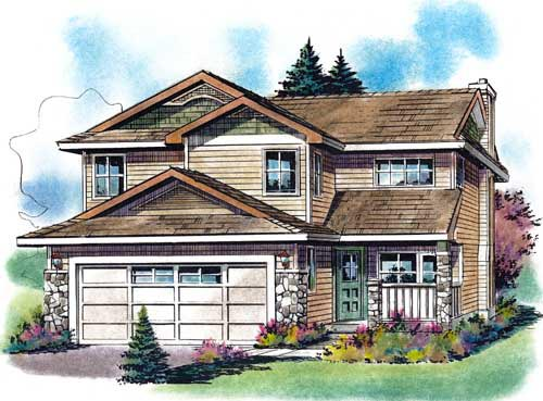 Craftsman House Plan 58552 Elevation