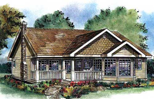 Ranch House Plan 58554 Elevation