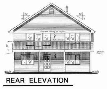 Contemporary House Plan 58555 Rear Elevation