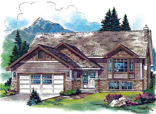 Craftsman House Plan 58556 with 2 Beds, 2 Baths, 2 Car Garage Elevation