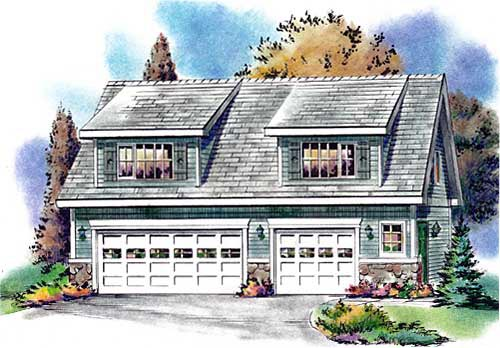 Country Garage Plan 58557 Elevation