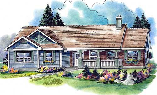 Country House Plan 58558 with 3 Beds, 3 Baths, 2 Car Garage Elevation
