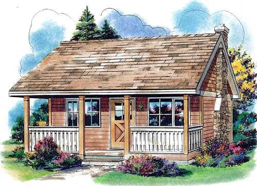 Country House Plan 58559, 1 Baths Elevation