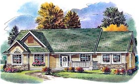 Ranch House Plan 58561 Elevation