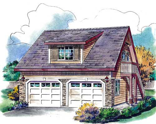 Contemporary Country Elevation of Plan 58563