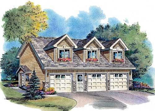 Traditional Garage Plan 58568 Elevation
