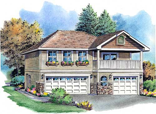 Traditional Garage Plan 58569 Elevation