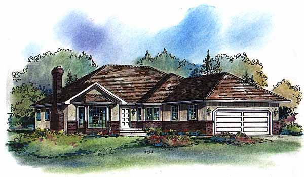 Ranch House Plan 58575 Elevation