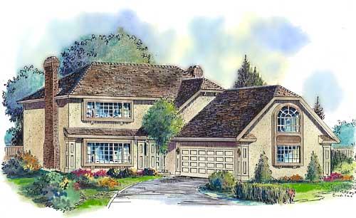 European House Plan 58576 Elevation