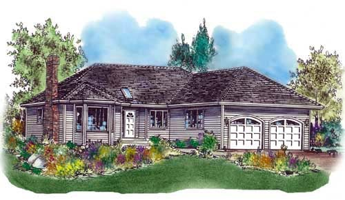 Ranch House Plan 58580 Elevation