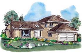 European House Plan 58581 Elevation