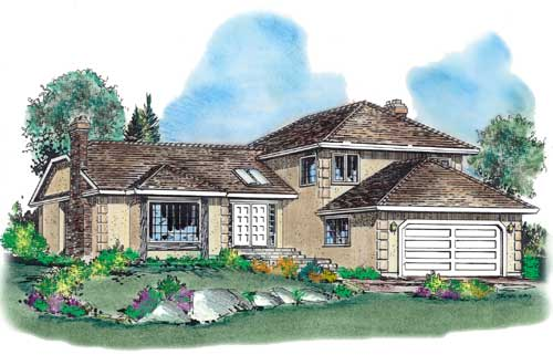 European House Plan 58581 Elevation