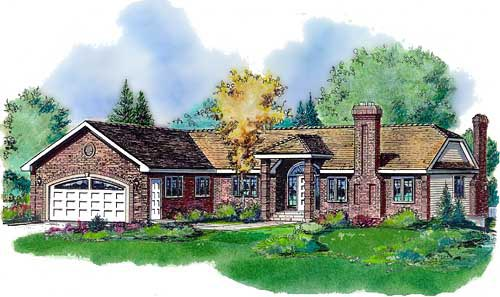 Ranch House Plan 58582 Elevation
