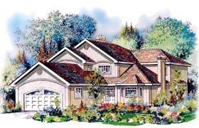 European House Plan 58584 Elevation