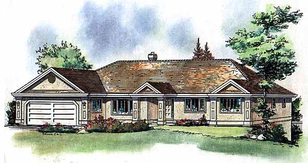 Ranch House Plan 58589 Elevation
