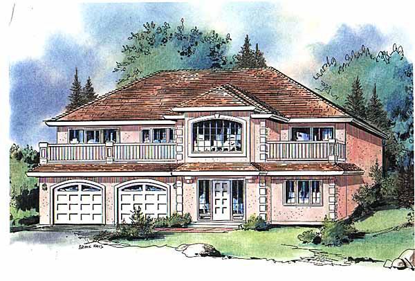 European House Plan 58590 Elevation