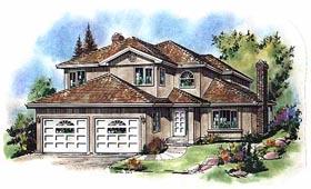 European House Plan 58592 Elevation